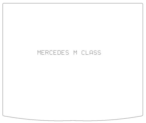 For Mercedes M Class 2012-2019 W166 Fully Tailored Black Rubber Car Boot Mat