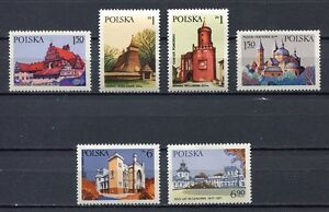 35933-Poland-1977-MNH-Architectural-Heritage-6v
