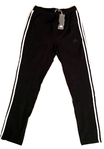 ADIDAS-SWEATPANTS-MENS-ATHLETIC-PANTS-AUTHENTIC-BLACK-SIZE-LARGE-TRACK-NEW-TAGS