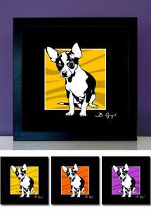 Chihuahua-Pop-Art-Poster-Bilder-Hunde-pop-dogs-3x-30x30-Portrait-Bild-Foto-Druck