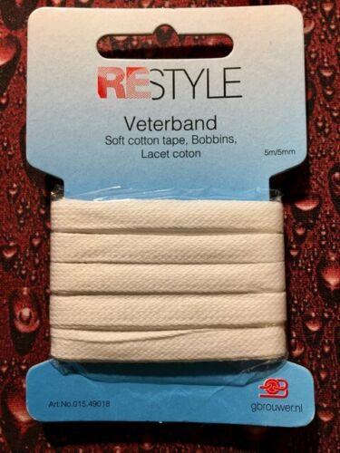 5 m Wäscheband 5 mm Baumwollband Einfassband Nahtband Wäscheband für Masken