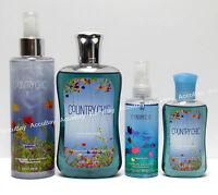 4pc Set - Country Chic - Shimmer Mist Shower Gel Bath & Body Works