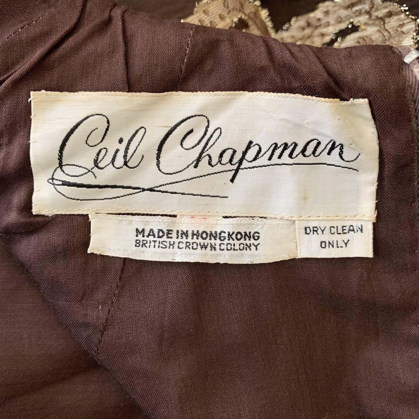 Vintage 60s Ceil Chapman Metallic Gold Brown Silv… - image 11