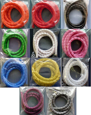 """2 Feet of 1//4/"""" Spiral Wrap Tubing Available in 10 Colors Blue Orange Black etc"""
