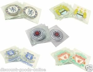 OFFICIAL-MERCHANDISE-CLUB-CREST-4-PACK-GLASS-DRINKS-COASTERS-FOOTBALL-GIFTS