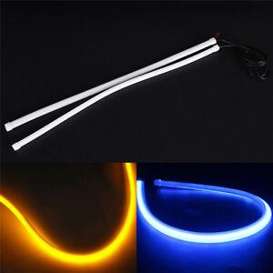 45cm-Flexible-White-Car-Soft-Tube-LED-Strip-Light-DRL-Daytime-Running-Ligh-lp