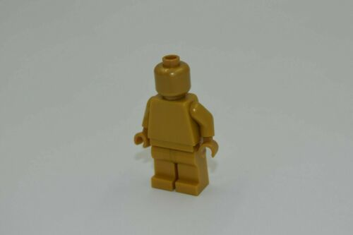 LEGO GOLD MONOCHROME MINIFIGURE all warm gold minifig solid plain statue NEW