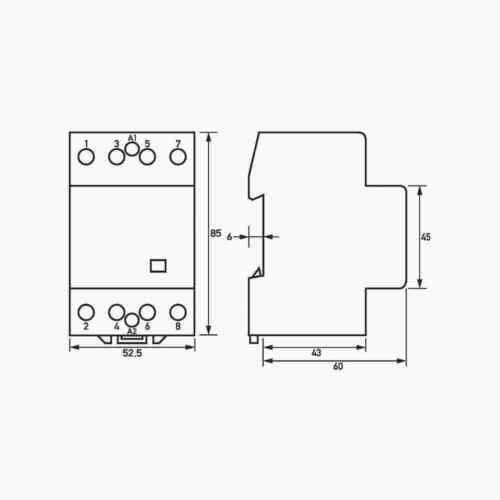 hs 40-40 230v//50hz Elektro-y tecnología de casa schutzscha Doepke schßtz 4 n.a