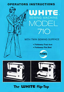 White Sewing machine 510, 710 Instruction or Service manual / Parts