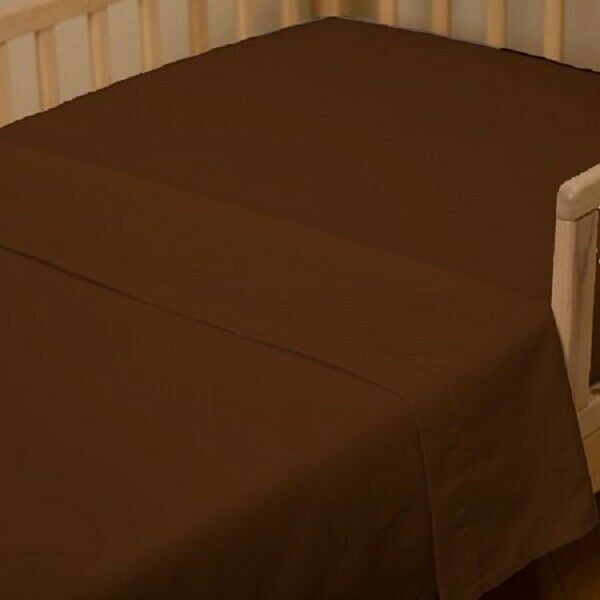 New (1 Qty Flat Top Sheet) All Size US Egyptian Cotton 1000 TC Chocolate Solid