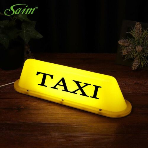"14/"" Waterproof Taxi Magnetic Base Roof Top Car Cab LED Sign Light Lamp 5V USB"