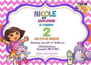 Image is loading Dora-Dora-the-Explorer-Birthday-Party-Invitation