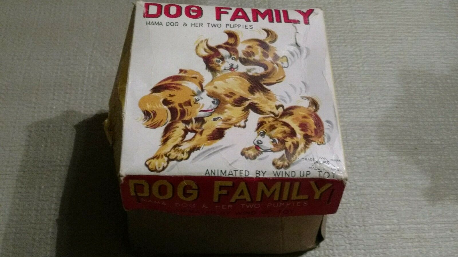 All Original ALPS Dog Family Wind Up Toy In Original Box - RARE