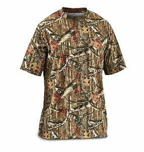 Mens-Mossy-Oak-Pattern-Cotton-Short-Sleeve-Camo-Military-Tactical-Hunting-Shirt