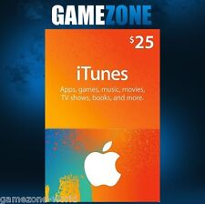iTunes Gift Card $25 USD USA Apple iTunes Voucher Code 25 Dollars United States
