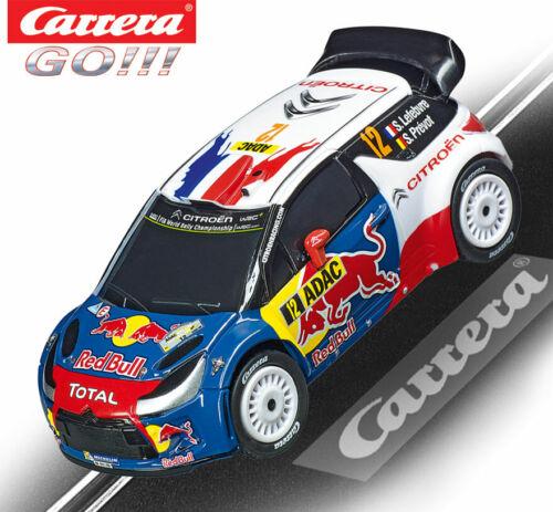 Carrera 64155 GO!! Citroen DS3 WRC slot car 1//43 Scale