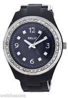 Relic By Fossil Starla Resin Black Womens Watch ZR11891