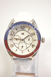 Tommy-Hilfiger-TH-182-3-14-1320S-White-Dial-Colored-Crystal-Chronograph-White