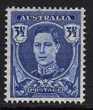 AUSTRALIA 1942-46 3½d ON THIN PAPER CW 39b MINT.