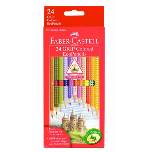 Faber-Castell 24 Grip Colored Ecopencils