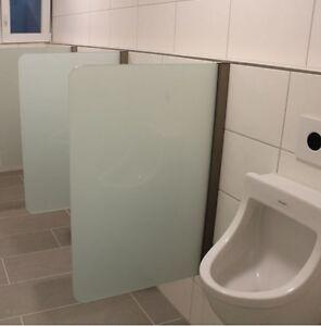 Urinal Trennwand Schamwand wandhängend 400 mm x 900 mm WC - Echtglas ...