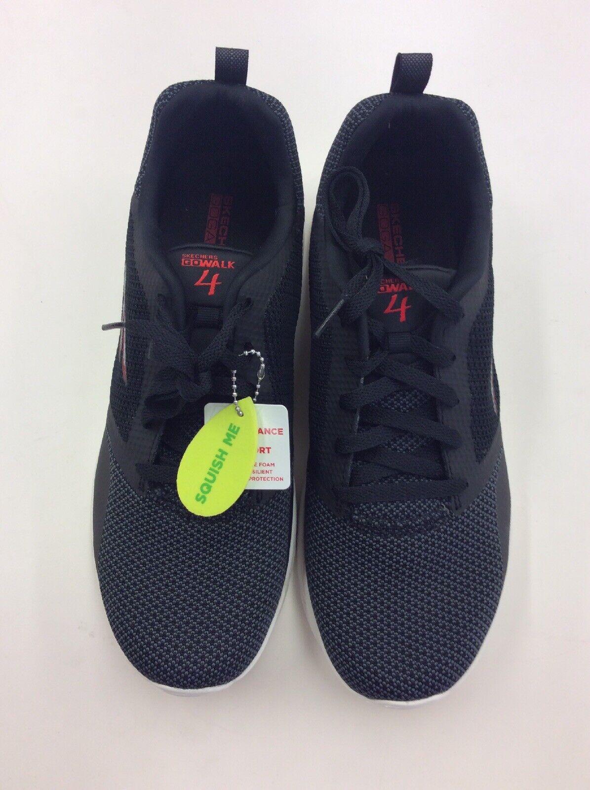 SKECHERS Men Go Walk 4 Running shoes 54680 Black Size 11