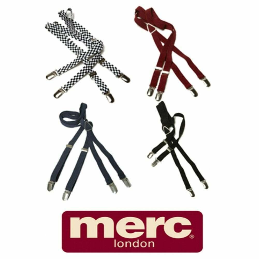 Merc London Mens New 1/2 14mm Thin Mens Punk Mod Vintage Braces