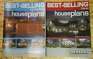 NEW Menards  Best Selling House  plans  Lot of 2 books