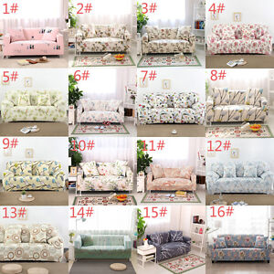1/2/3/4 Seater L Shape Stretch Chair Loveseat Sofa Couch Protect Cover Slipcover