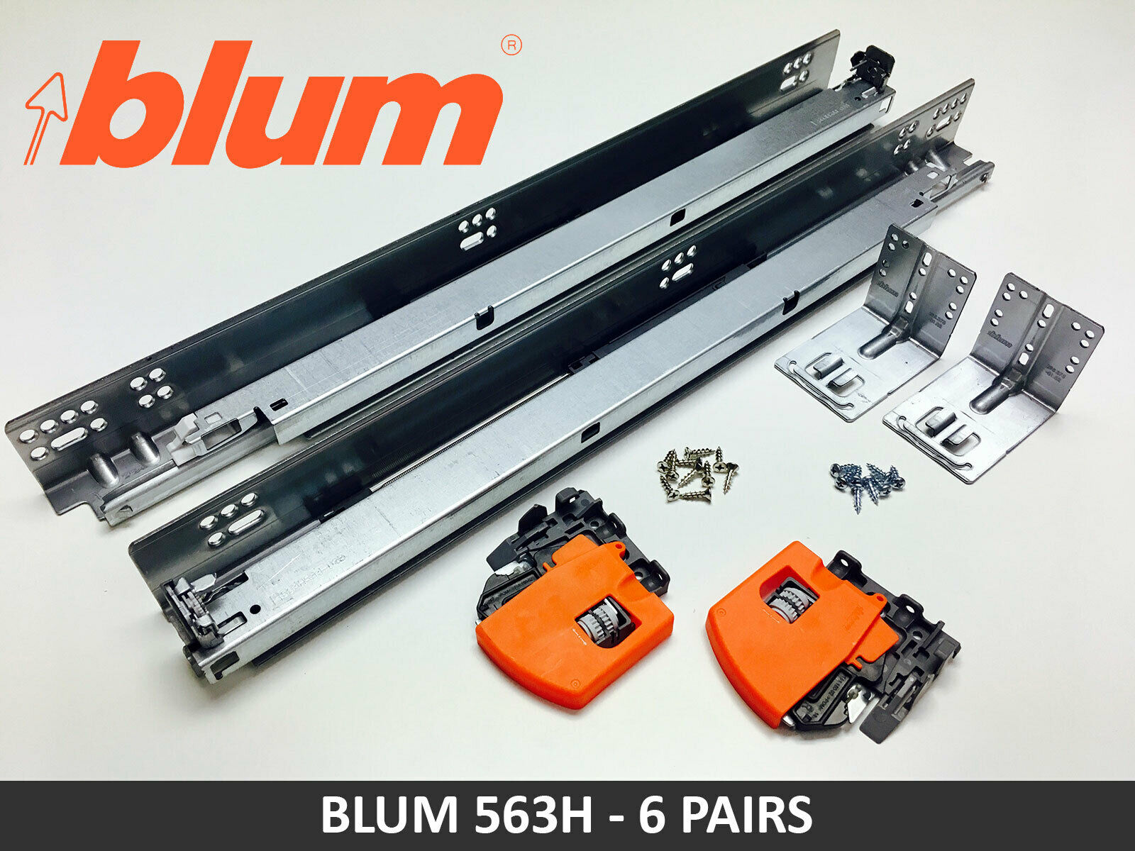 BLUM TANDEM PLUS BLUMOTION UNDERMOUNT SLIDE 6 SET THE NEXT GEN SOFT CLOSE 563H