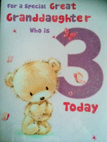 Grande petite-fille 3ème carte anniversaire