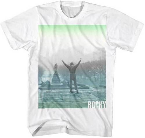 Details about  /Rocky Museum Steps Color Print Adult T Shirt Classic Movie