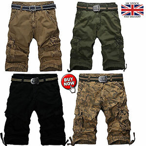 72499c3b05 Image is loading Mens-Combat-Summer-Causal-Military-Style-Cargo-Six-