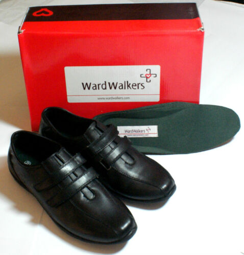 Smart Flat Black Leather Shoes Straps Professional Hospital Euro size 39 #108