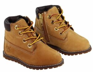 Timberland-A125Q-bebe-nourrissons-UK-7-5-EU-25-Pokey-PIN-6-Inch-Boot-WHEAT-chaussures