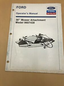 Ford-38-034-Mower-Deck-9607439-Operators-Parts-Manual-Lawn-Garden-Tractors-Owners