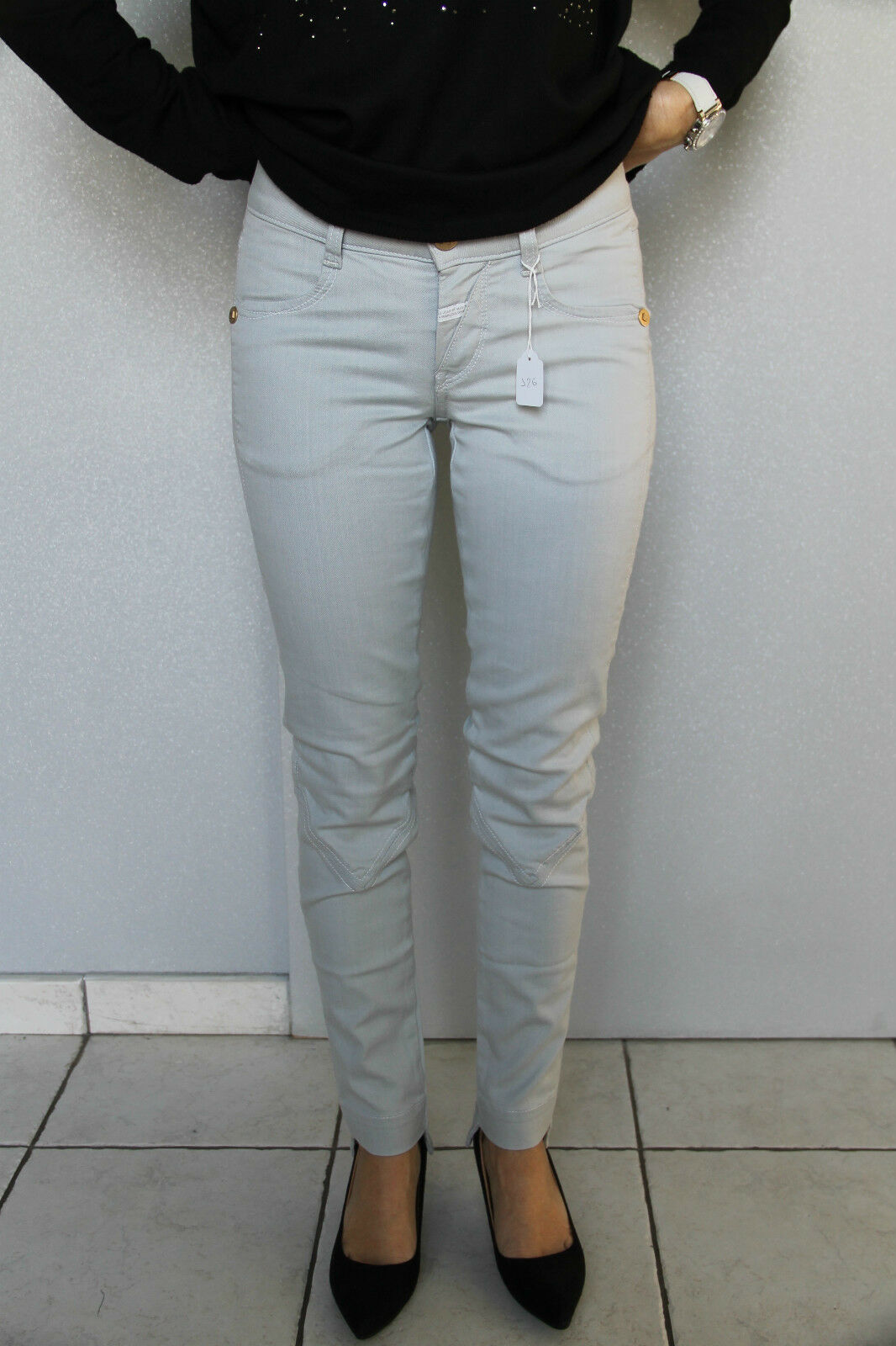 Jeans slim grey M & F GIRBAUD tiagageddon SIZE 29 (38-40) NEW value