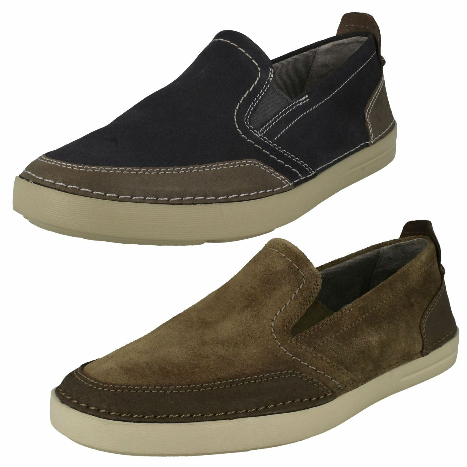 Clarks Mens Casual Slip On schuhe Gosler Race
