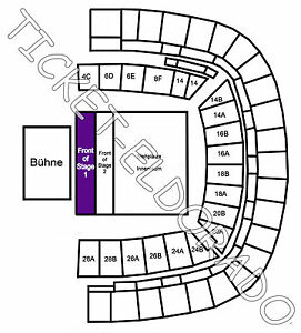 depeche mode frankfurt arena front of stage 1 tickets karten fos ebay. Black Bedroom Furniture Sets. Home Design Ideas