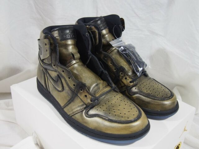 release date: fc5a0 115d3 Nike Air Jordan 1 Retro High OG Wings Black Gold Aa2887 035 Size 11