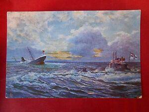 Postkarte-Marine-Schiffe-Original-Feldpost