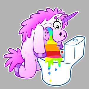 licorne arc en ciel vomit unicorn puke rainbow 10cm autocollant sticker la052 ebay