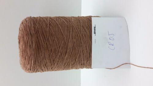 Wolle Garn Stricken /& HandstrickenKone Chenille 100/% baumwol braun 1,8kg cr05