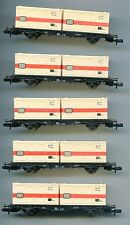 Rake of 5 FLEISCHMANN 8234  DB Container wagons    N Gauge