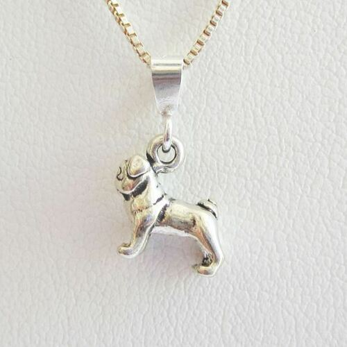 Pug Mini Pendant Charm and Necklace Free Shipping