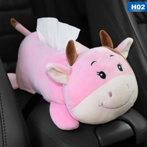 Tissue Box Cartoon Car Armrest Box Paper Animal Decor Car Napkin Cover jin