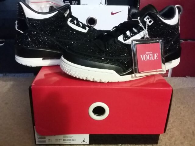 save off c03c7 b6a32 Nike Air Jordan III 3 WMNS RTR SE AWOK NRG Vogue Black Bq3195-001 Size 9 US