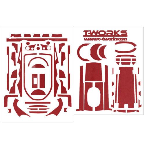 T-Work/'s Metal Chrome Radio Skin Sticker For Futaba 7PX