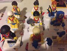 LEGO TEAM GB LONDON OLYMPICS  RARE MINIFIGURE SET COMPLETE SET  9 Ltd UK Edition