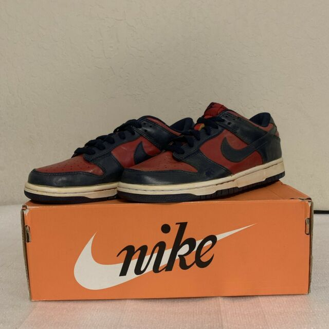 more photos 51bc3 238b3 Nike Dunk Low Vintage Vntg Varsity Red Midnight Blue Mens 7 Rare Limited  Edition